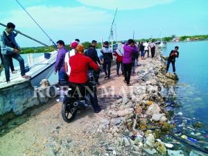 RUSAK. Kondisi Pelabuhan Banbaru Gili Raja kini rusak parah dan perlu segera diperbaiki, Sabtu (2/5).