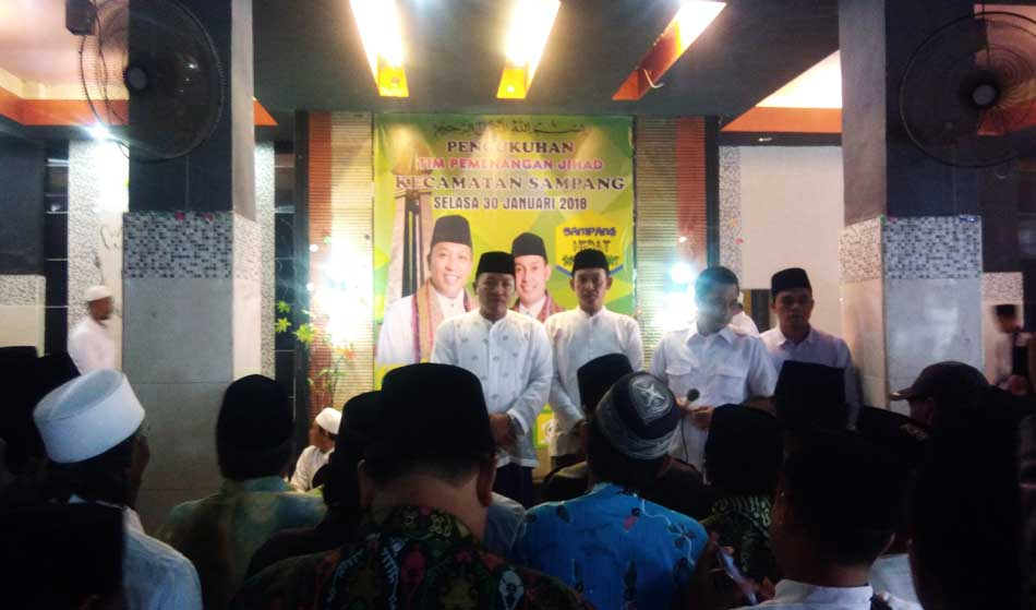 Pasangan Jihad Lantik Tim Pemenangan di 7 Kecamatan