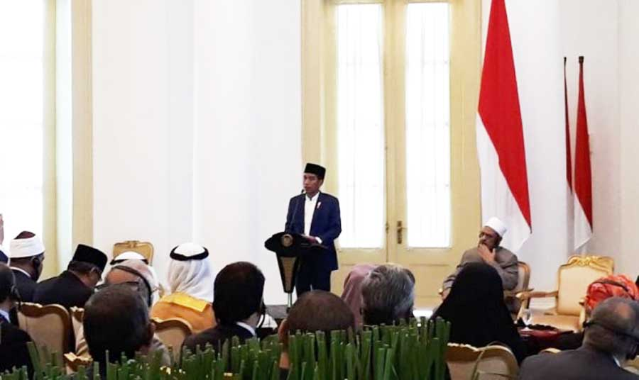 Jokowi: Tantangan Islam Memerangi Radikalisme di Medsos
