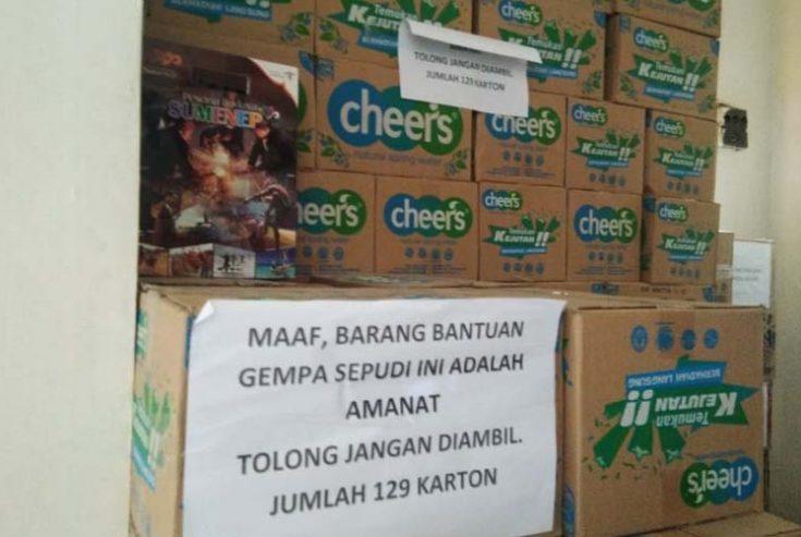 Bantuan untuk Korban Gempa Sapudi Ini Masih Terlihat di Kantor Disperindag