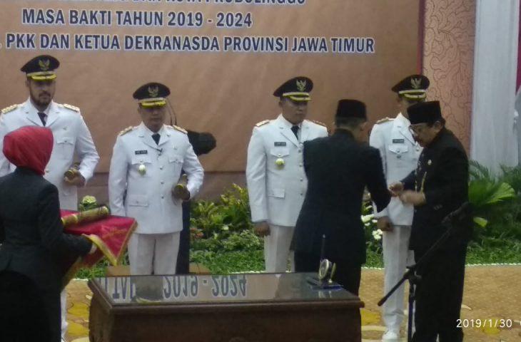 H Slamet Junaidi dan H Abdullah Hidayat Resmi Dilantik Jadi Bupati dan Wakil Bupati Definitif Periode 2019-2024
