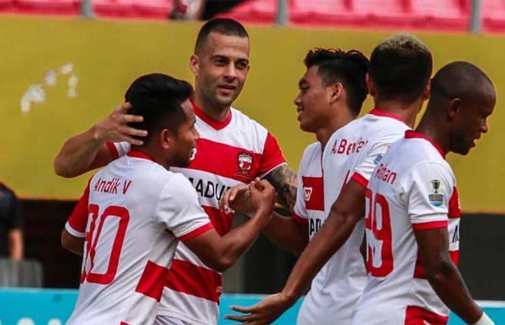 Unggul Agregat 7-1 atas Sriwijaya, Madura United Melaju ke Babak 8 Besar Piala Indonesia