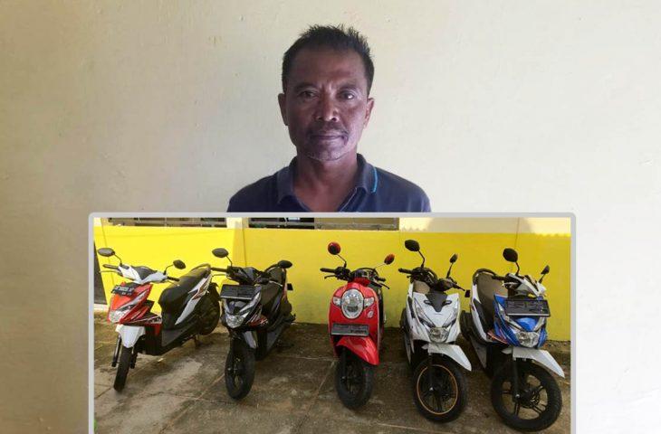 Bawa Lima Motor Tanpa STNK-BPKB, Pria Asal Arjasa Sumenep Diringkus Polisi