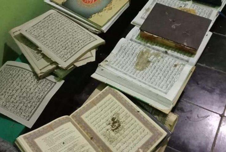 Masjid Diacak-acak Orang Tak Dikenal, Karpet, Meja dan Kitab Dibuang ke Sumur