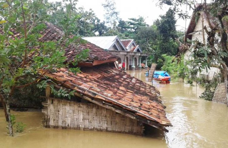 Desa Palengaan Daja Pamekasan Terendam Banjir