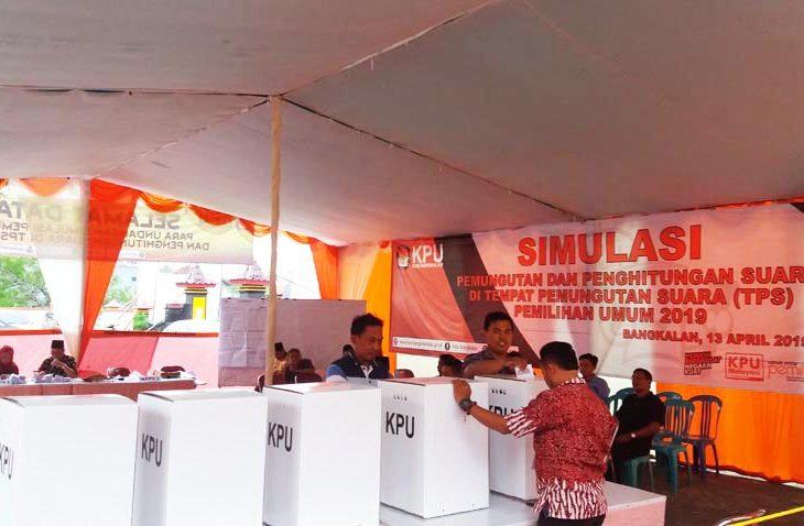 H-4 Pemilu, KPU Bangkalan Gelar Simulasi Pencoblosan dan Penghitungan Surat Suara