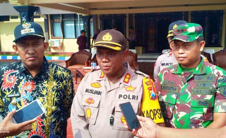 Jelang Pemilu 2019, Polres Sumenep Mulai Lakukan Pergeseran Pasukan