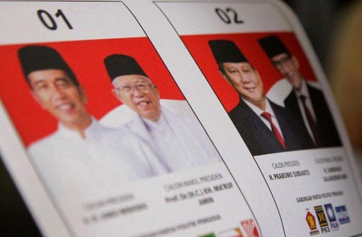 Situng KPU Pagi ini Sudah 49%: Jokowi-Ma'ruf 56,19% dan Prabowo-Sandi 43,81