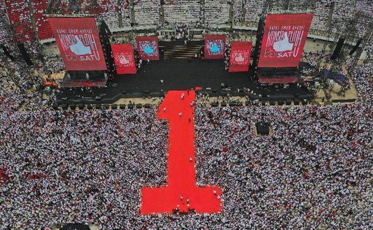 Kampanye di GBK, 100 Gitaris Hibur Massa  Jokowi-Kiai Ma'ruf Amin