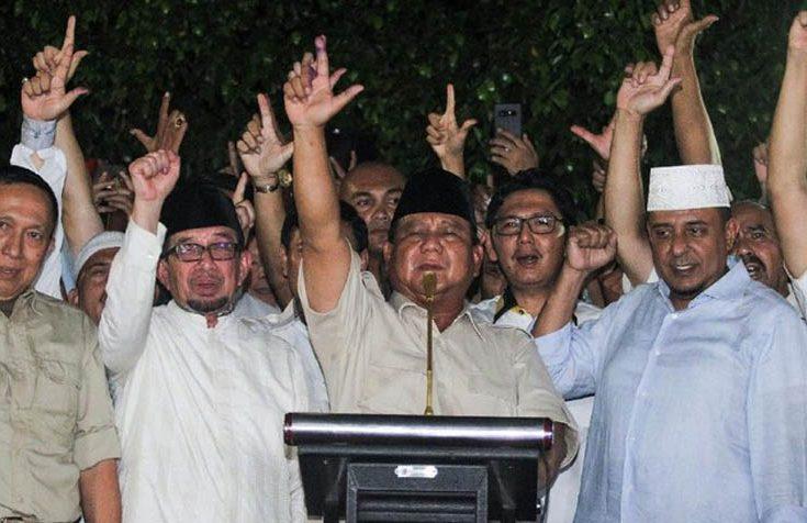 Klaim Prabowo Menang Turun Jadi 54 Persen, Ini Penyebabnya