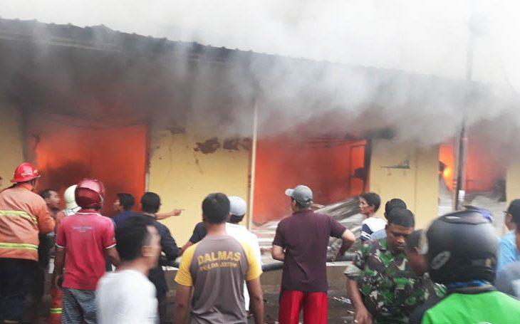 Polisi Masih Selidiki Penyebab Kebakaran Pasar Anom Baru