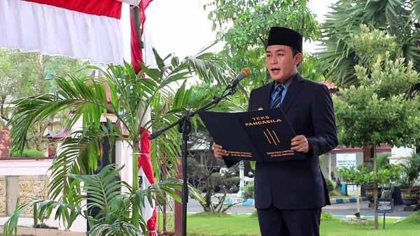 Bupati Baddrut Tamam Pimpin Upacara Hari Lahir Pancasila di Pamekasan