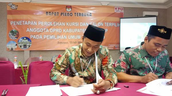 """KPU Sumenep Tetapkan Perolehan Kursi dan Caleg Terpilih: PKB Berjaya, Golkar """"Puasa"""""""