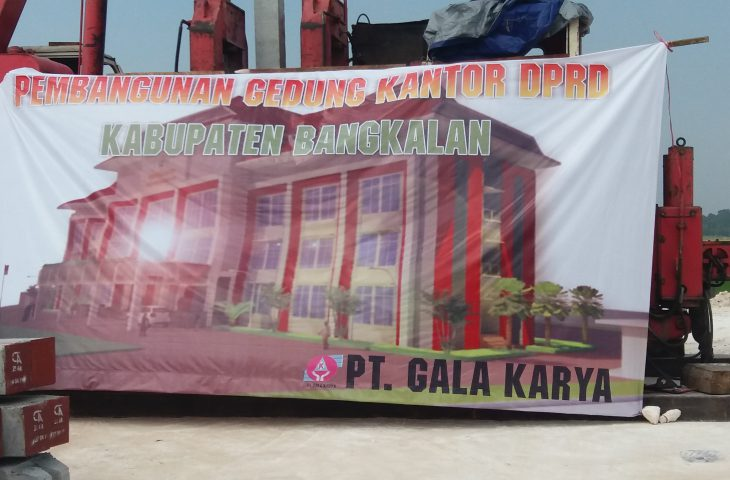 Pembangunan Gedung DPRD Bangkalan Sudah Capai 20 Persen