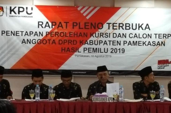 KPU Pamekasan Tetapkan Anggota DPRD Periode 2019-2024, Ini Nama-namanya