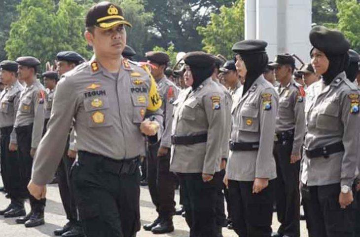 Pasukan BKO Polda Jatim Diterjunkan Amankan Pilkades Serentak di Pamekasan