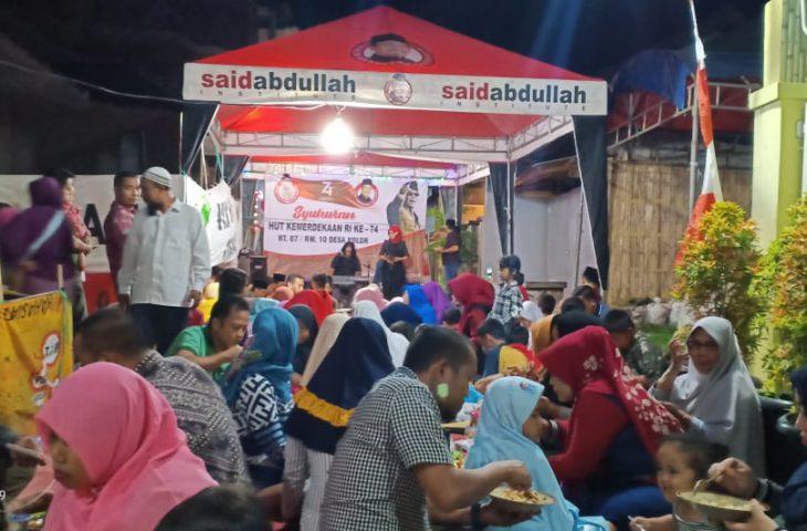 Didukung MH. Said Abdullah dan Achmad Fauzi, RT 07/10 Perumahan BSA Gelar Malam Syukuran