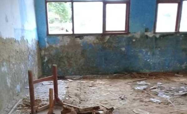 Belum Lama Dibangun, Gedung SMP 3 Geger Bangkalan Sudah Rusak