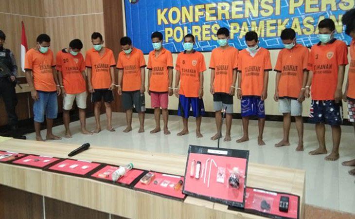 Selama 25 Hari, 12 Tersangka Kasus Narkoba di Pamekasan Ditangkap secara Maraton