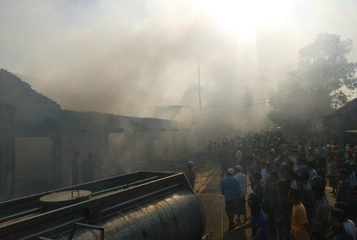 Salah Satu Pasar Tradisional di Omben Dikabarkan Terbakar