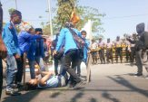 Oknum Polisi Diduga Berlagak Preman, Aktivis PMII Demo Mapolres Sampang