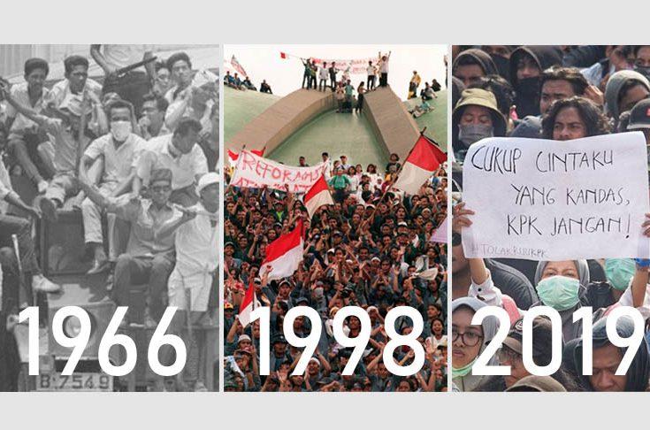Membandingkan Aksi Mahasiswa 1966, 1998, dan 2019
