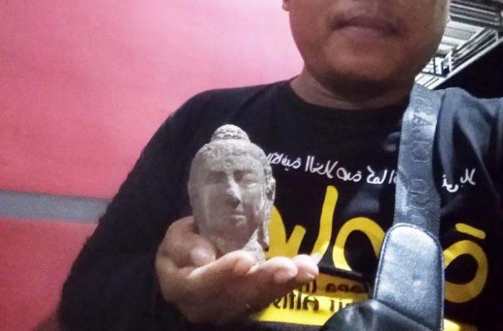 Disparbud Pamekasan: Temuan Kepala Patung Mirip Arca Buddha Akan Diteliti
