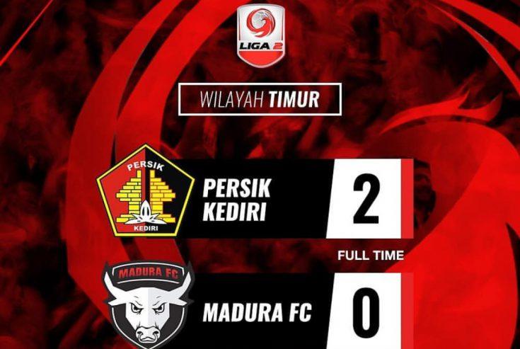 Madura FC Tumbang di Kandang Persik Kediri