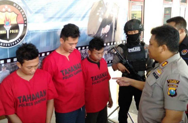 Nekat Jajakan Sabu di Sampang, 3 Pengedar Asal Kediri Diringkus Polisi