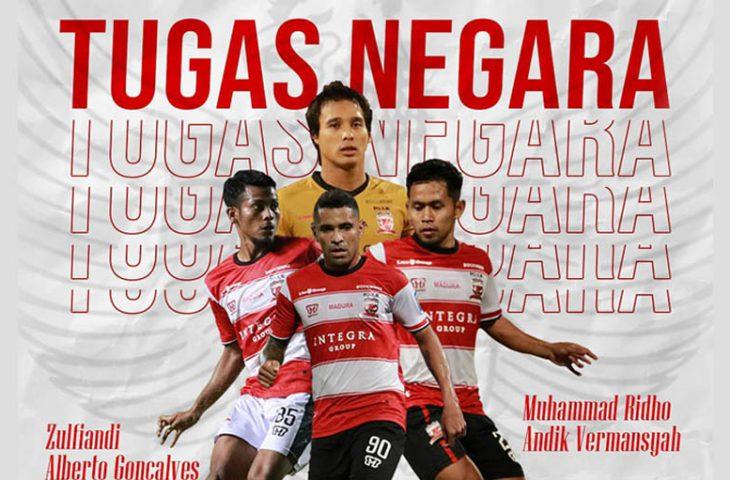 Usai Bela Timnas, Empat Pemain Madura United Disiapkan Bertempur Kontra Semen Padang