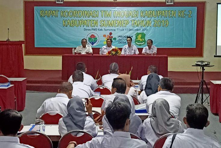 DPMD Gelar Rakor Tim Inovasi Kabupaten ke-2, Target 2020 Sumenep Bebas dari Desa Tertinggal