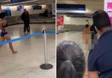 Wanita Berjalan Telanjang Hebohkan Seisi Bandara
