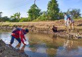 Penebaran Benih Ikan di Sungai Bangkalan Belum Tersentuh ke Pedesaan